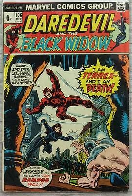 Daredevil #106 (1973 Marvel) Bronze Age VG/FN condition. Black Widow.