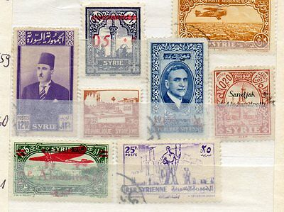 Small selection of stamps from Middle East, MH and FU, some overprints.