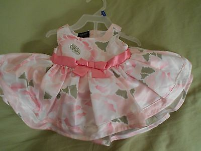 infant girls summer dress  with diaper cover size 0-3 mo.