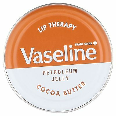 2 x  tins of Vaseline Lip Therapy Petroleum Jelly Cocoa Butter 20g