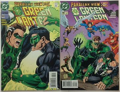 Green Lantern #63 & 64. Parallax view parts 1 & 2 complete (1995 DC) VF +/-
