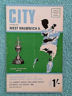 1968 - CHARITY SHIELD PROGRAMME - MANCHESTER CITY v WEST BROM