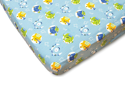 Monsters Fitted Crib Sheet - Baby & infant nursery bedding sheet