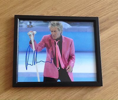 Rod Stewart Signed Picture In Frame