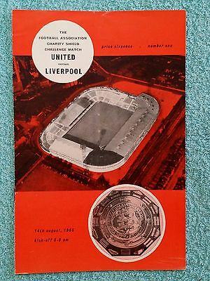 1965 - CHARITY SHIELD PROGRAMME - MANCHESTER UNITED v LIVERPOOL