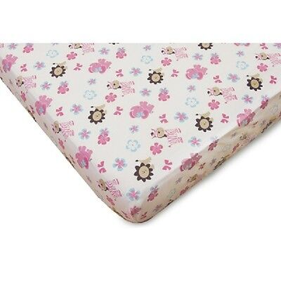 Girly Animals Fitted Crib Sheet - Baby & infant nursery bedding sheet