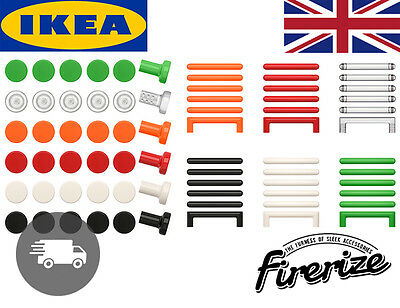 IKEA SATTA- Knobs & Handles - Pack of 6 Fun Colours - Wardrobe Cupboard Drawer