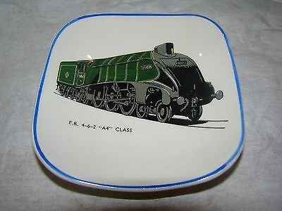 Vintage Sandland Ware. One small dishes. Vintage Train A4 Class (damaged).