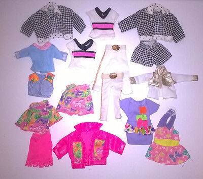 Barbie Chelsea Kelly Tutti and Todd Doll Mattel Clothes Vintage Mixed Lot