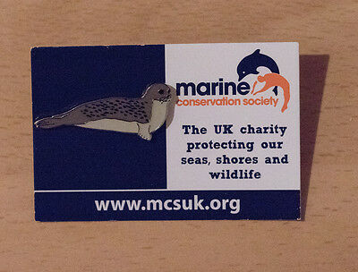 Not RSPB pin badge MARINE CONSERVATION Seal