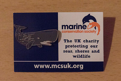 Not RSPB pin badge MARINE CONSERVATION Sperm Whale