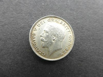 George v  silver sixpence coin 1921 a/unc     Ref 225