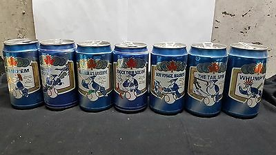 Beer cans Labatt Blue Blue Jay series cans 1990's