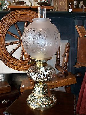 Victorian Oil Lamp with a Leeds label on the wick lifter