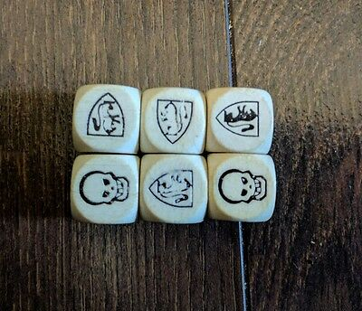 Vtg 1990 HeroQuest Board Game Replacement Parts Complete Set of 6 Combat Dice