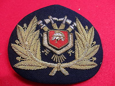 "Cap badge  ""Rotterdam Fireboat Officers"" perfect condition"