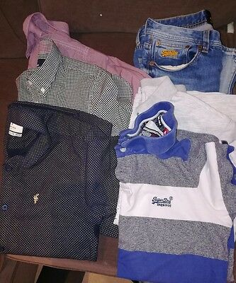 Mens clothing bundle Superdry, Fred Perry, Father Sons