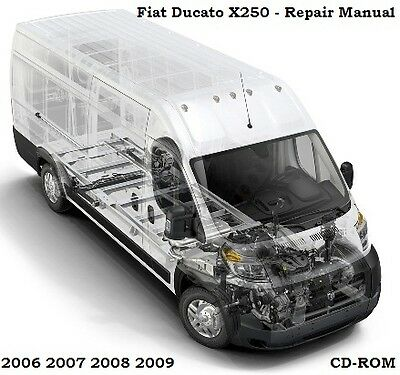 Citroen Relay Fiat Ducato  Boxer Motorhome Service Workshop Repair Manual 06-09