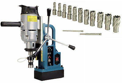 "Steel Dragon Tools® MD45 Magnetic Drill Press & 13pc. 1"" HSS Annular Cutter Kit"
