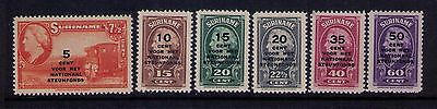 Netherlands Colonies Suriname Stamps Sc #b41-46 Mlh