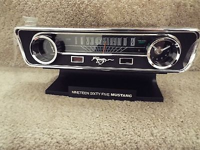 New LIMITED EDITION 1965 Ford Mustang Commemorative Desk Clock With Sounds