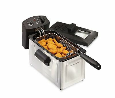 Hamilton Beach Professional-Style 12-Cup Stainless Steel Deep Fryer