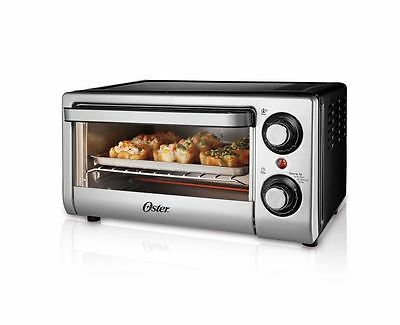 Oster 4-Slice 1000 W Toaster Oven Stainless Steel Countertop