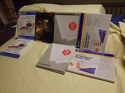 7 new sealed boxes 3M HP XEROX Transparency Film Transparencies  550+ Total