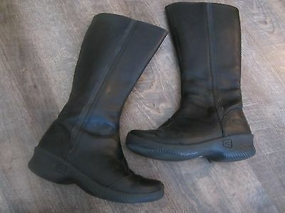 Keen Women's 'Ferno' Tall Leather Boots US Shoe Size 6 (EU 36) Black, Zipper