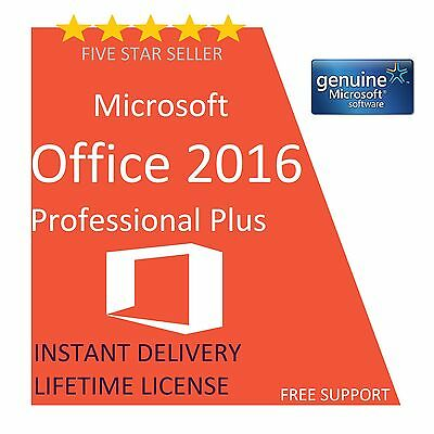 Original Office Professional Plus 2016 32  /64Bit 5 User Key