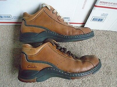 Clarks brown leather men's ankle boots size 8M