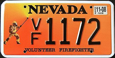 "NEVADA "" FIREFIGHTER - FIRE FIGHTER "" RARE "" 2008 NV Graphic License Plate"