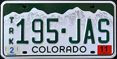 "COLORADO "" TRUCK - TRK - 195 JAS "" CO Graphic License Plate"