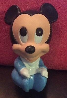 HTF Rare Vintage 1984 Mickey Mouse Squeak Toy by The Walt Disney Company