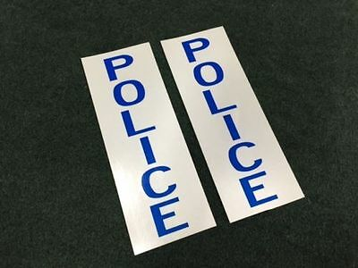 "2 Gamewell ""POLICE"" Alarm box STICKER DECAL Scotchlite Reflective fire police"