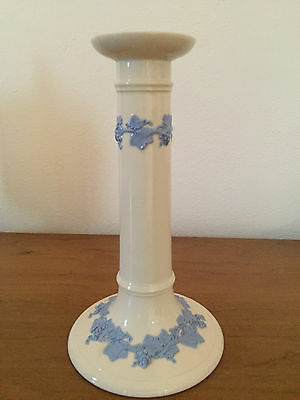 "Vintage Wedgwood Lavender on Cream 8"" Candle Holder"