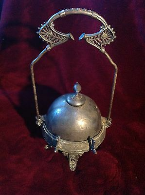 Antique Victorian Rogers Smith & Co Silverplate Relish Caddy