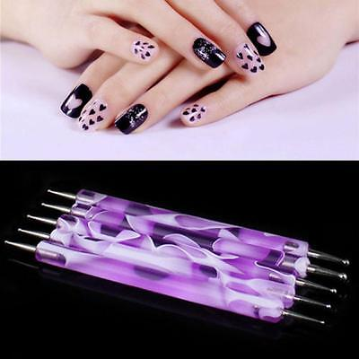 2pcs  Drawing DIY Women Nail Art Pen Manicure Tool Painting Dotting Decoration