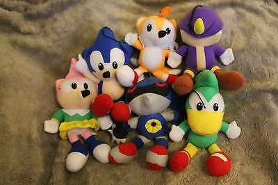 SUPER RARE SEGA Sonic The Hedgehog Fighters Plush Figure Set - Metal Espio Bean