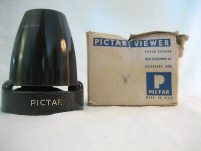 Vintage Pictar Hand Held Mini Picture Slide Viewer in original Box