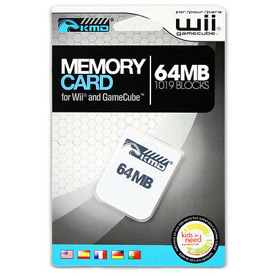 64 MB Memory Card for GameCube Wii (KMD) New 1019 Blocks 64MB Storage