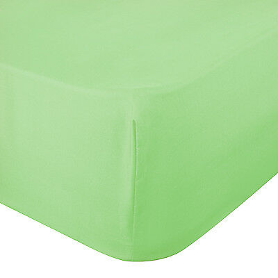 200TC 100% Luxury Percale Cotton Fitted Sheet Bedding Sheet Pista Colour CP