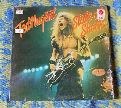 Ted Nugent State of Shock Record Vinyl LP VG+