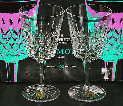 Waterford Crystal ~ Lismore Cut ~ 17cm Large Goblets ~ PAIR OF ~ NEW BOX & SLEEV