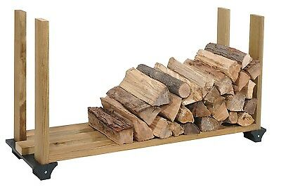 Firewood Rack System Kit Tree Fire Storage Logs Smokers Grills Outdoor Indoor
