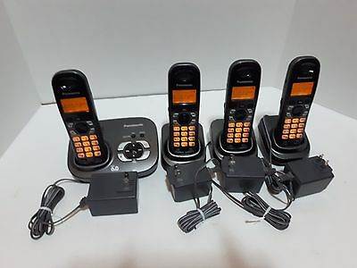 Panasonic 4-Handset DECT Cordless Phone with Answering Machine (KX-TG6321CT)