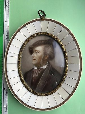 Richard Wagner miniature in oval frame