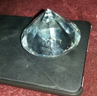 Paperwieght or  table Decoration glass  crystal Diamond