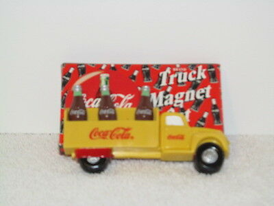 Coca-Cola Delivery Truck and Bottles Refrigerator Magnets 4 Piece Set Coke 1998