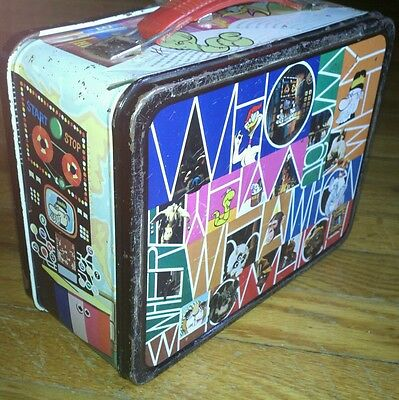 Old Lunch Box Thermos Curiosity Shop Rustic Antique Primative